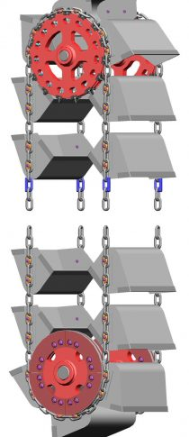 SDD-System side mounted buckets